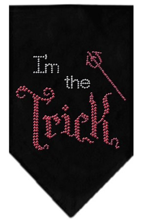 I'm the Trick Rhinestone Bandana Black Large