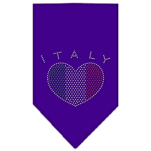 Italy Rhinestone Bandana Purple Small