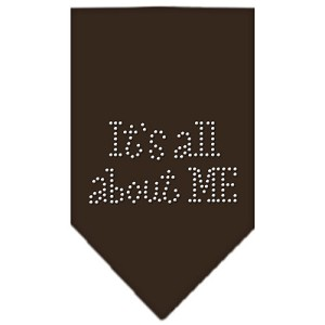 Its All About Me Rhinestone Bandana Cocoa Small
