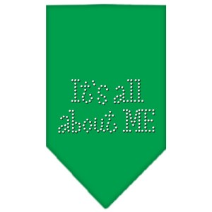 Its All About Me Rhinestone Bandana Emerald Green Large