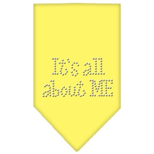 Its All About Me Rhinestone Bandana Yellow Large