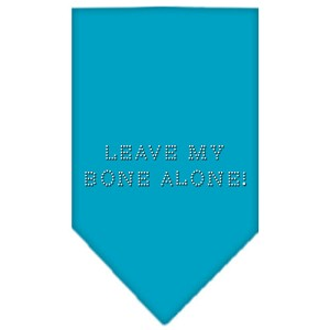 Leave My Bone Alone Rhinestone Bandana Turquoise Large