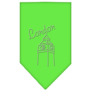 London Rhinestone Bandana Lime Green Large