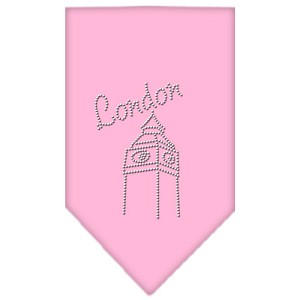 London Rhinestone Bandana Light Pink Large