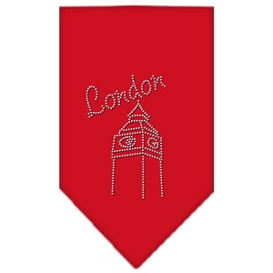 London Rhinestone Bandana Red Large