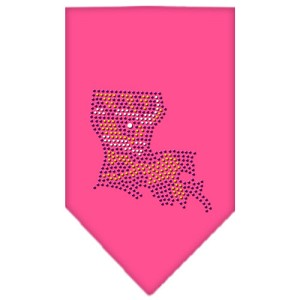 Louisiana Rhinestone Bandana Bright Pink Large