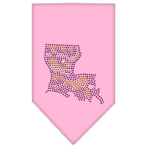 Louisiana Rhinestone Bandana Light Pink Large