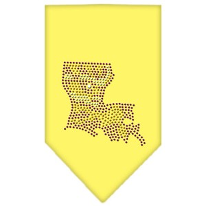 Louisiana Rhinestone Bandana Yellow Large