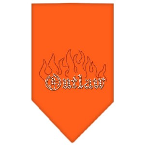 Outlaw Rhinestone Bandana Orange Small