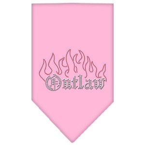 Outlaw Rhinestone Bandana Light Pink Large