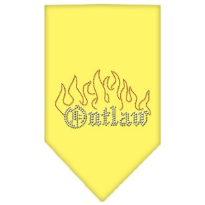 Outlaw Rhinestone Bandana Yellow Large