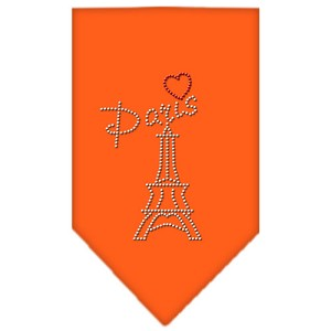 Paris Rhinestone Bandana Orange Small