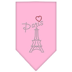 Paris Rhinestone Bandana Light Pink Large