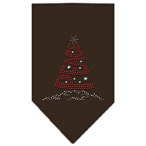 Peace Tree Rhinestone Bandana Cocoa Small