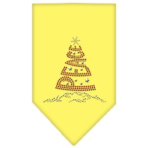 Peace Tree Rhinestone Bandana Yellow Small