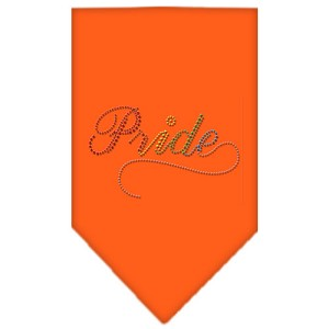 Pride Rhinestone Bandana Orange Large
