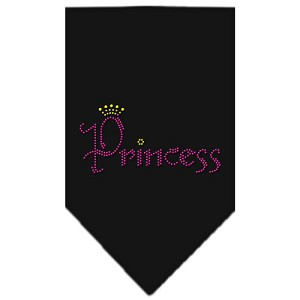 Princess Rhinestone Bandana Black Small