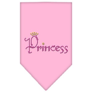Princess Rhinestone Bandana Light Pink Large