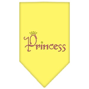 Princess Rhinestone Bandana Yellow Large