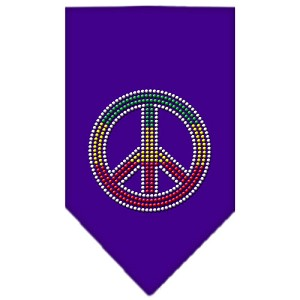 Rasta Peace Rhinestone Bandana Purple Large