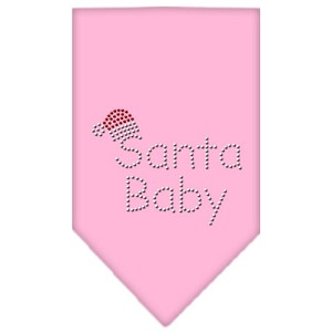 Santa Baby Rhinestone Bandana Light Pink Small