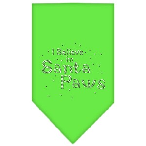 Santa Paws Rhinestone Bandana Lime Green Small