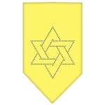 Star Of David Rhinestone Bandana Yellow Small