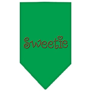 Sweetie Rhinestone Bandana Emerald Green Small