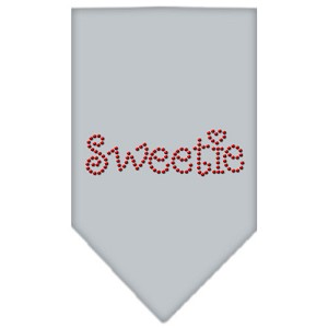 Sweetie Rhinestone Bandana Grey Small