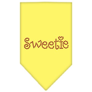 Sweetie Rhinestone Bandana Yellow Large