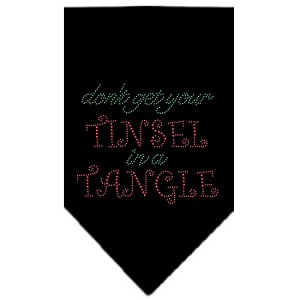 Tinsel in a Tangle Rhinestone Bandana Black Large