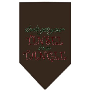 Tinsel in a Tangle Rhinestone Bandana Brown Small