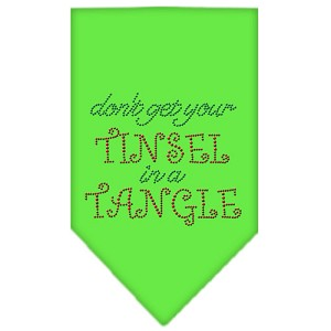 Tinsel in a Tangle Rhinestone Bandana Lime Green Small