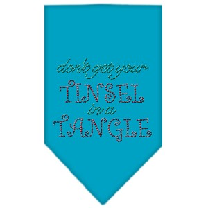 Tinsel in a Tangle Rhinestone Bandana Turquoise Large