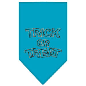 Trick or Treat Rhinestone Bandana Turquoise Large