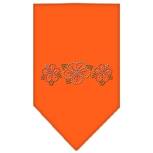 Tropical Flower Rhinestone Bandana Orange Small