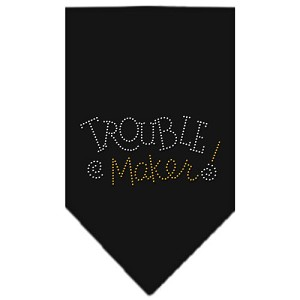 Trouble Maker Rhinestone Bandana Black Large