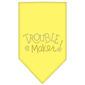Trouble Maker Rhinestone Bandana Yellow Large
