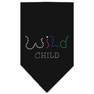 Wild Child Rhinestone Bandana Black Large