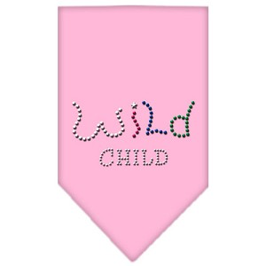 Wild Child Rhinestone Bandana Light Pink Large