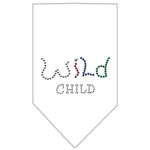 Wild Child Rhinestone Bandana White Small