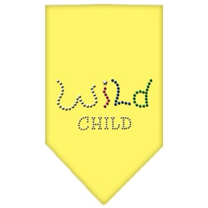 Wild Child Rhinestone Bandana Yellow Small