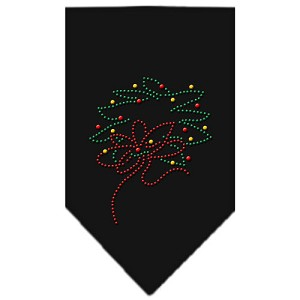 Wreath Rhinestone Bandana Black Small