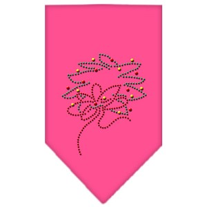 Wreath Rhinestone Bandana Bright Pink Large