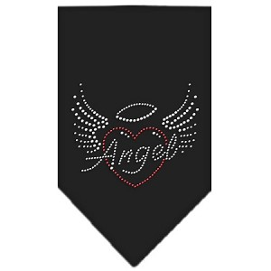 Angel Heart Rhinestone Bandana Black Large