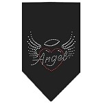 Angel Heart Rhinestone Bandana Black Small