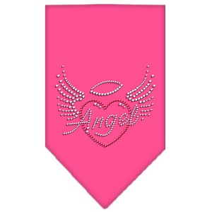 Angel Heart Rhinestone Bandana Bright Pink Large