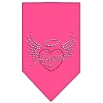 Angel Heart Rhinestone Bandana Bright Pink Small