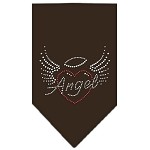 Angel Heart Rhinestone Bandana Brown Small