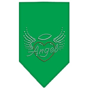 Angel Heart Rhinestone Bandana Emerald Green Large